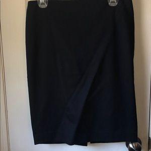 Blue back zip pencil skirt